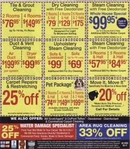 Suwanee Carpet Cleaning Specials
